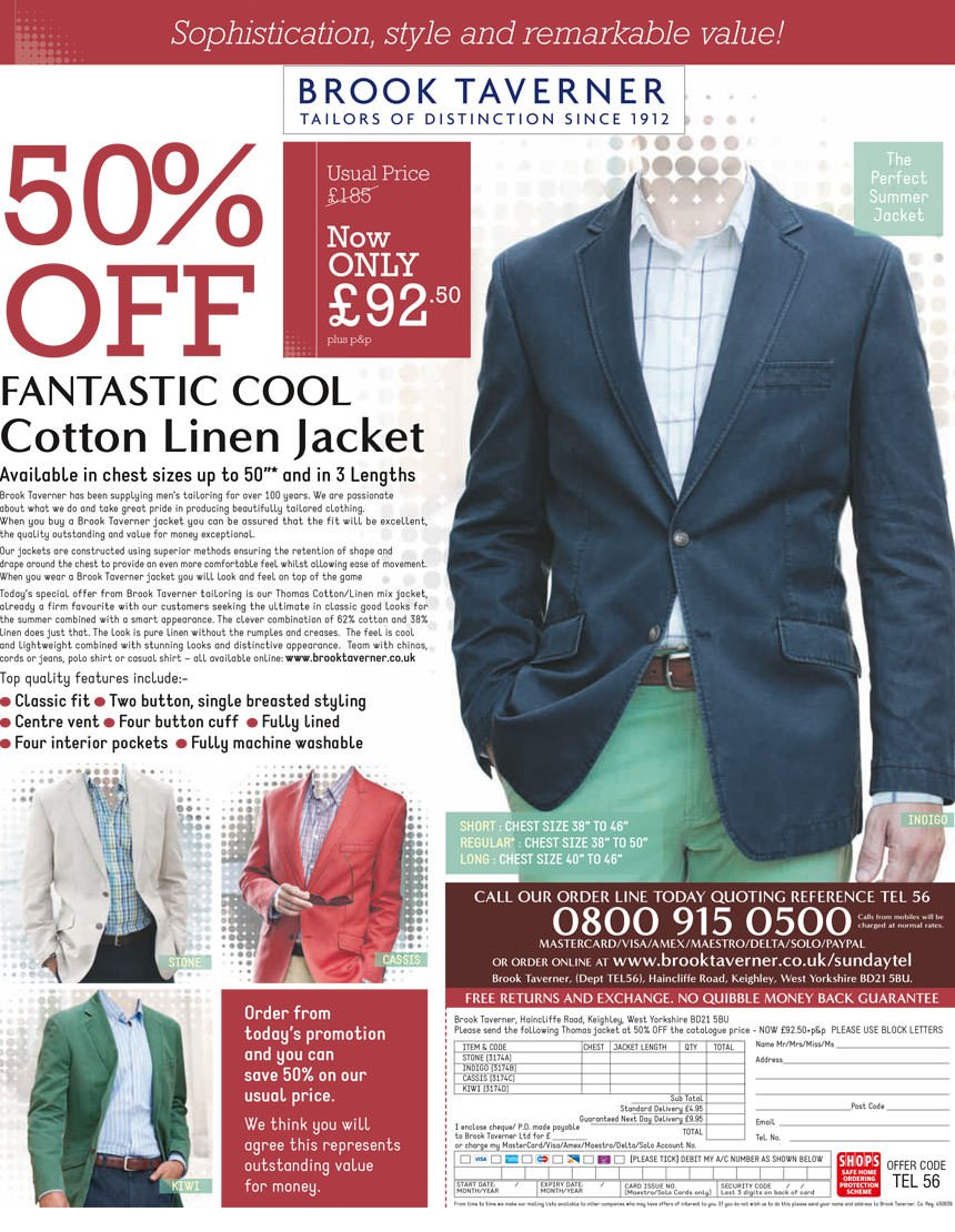 Brook Taverner Jacket advert