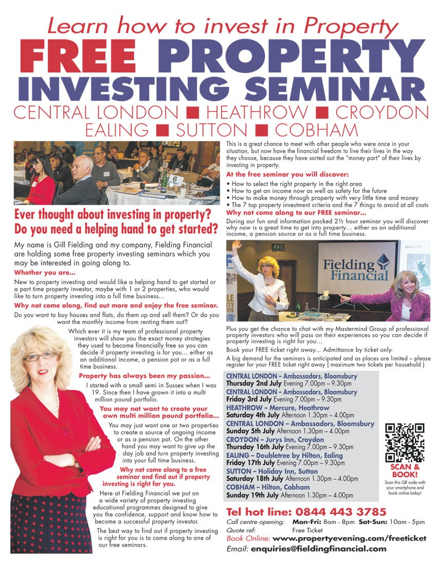 Fielding Financial Property Seminar advert
