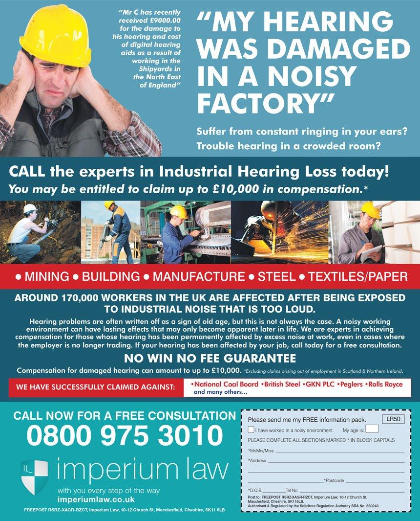 Imperium Law Industrial Noise advert