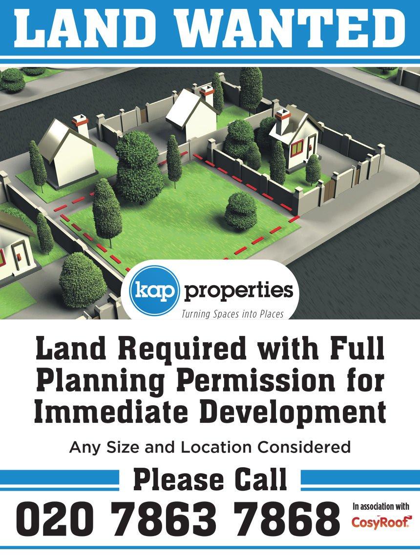 Kap Properties Land Required advert