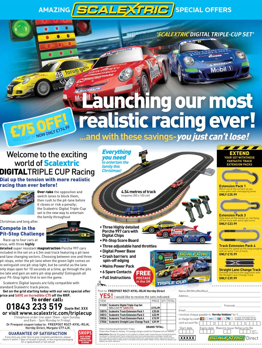 Scalextric Triple Cup advert