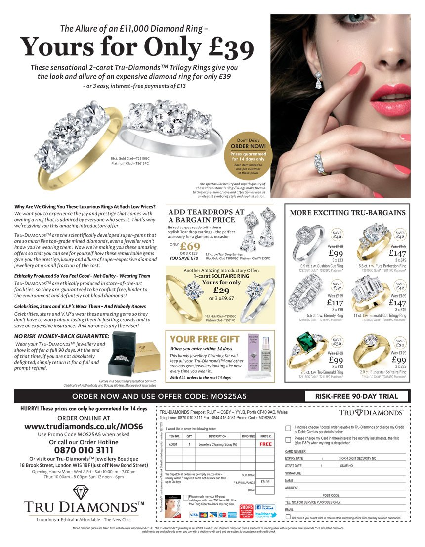 TruDiamonds Diamond Ring advert